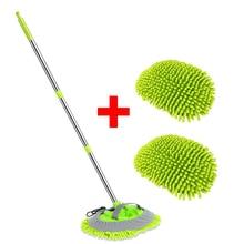 Detaillering Borstels Verstelbare Handvat Dweil Voor Car Cleaning Zachte Chenille Bezem Venster Wassen Mops Auto Dust Remover Brush
