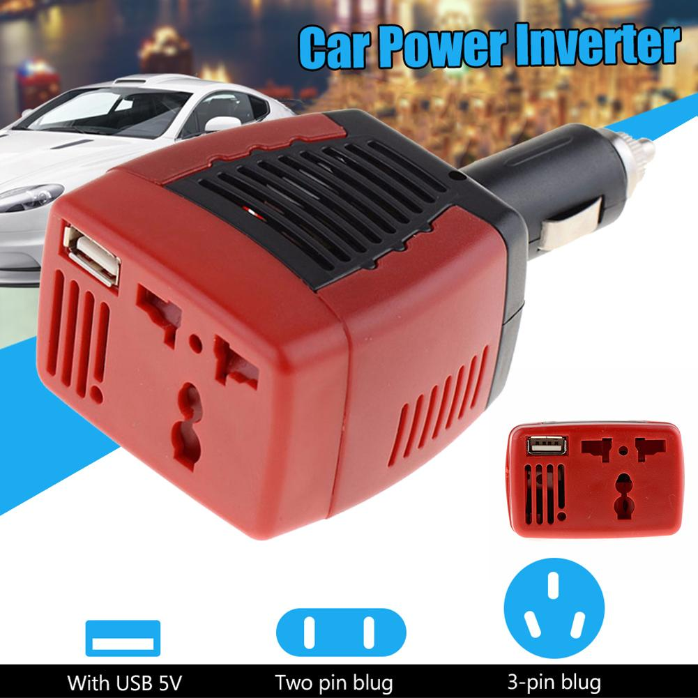 12V Car Power Inverter USB 2.1A 150W 220V Converter Adapter With Cigarette Lighter Car Charger