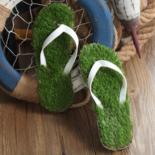 Imitation lawn personality, grass slippers, artificial mens and womens clothing