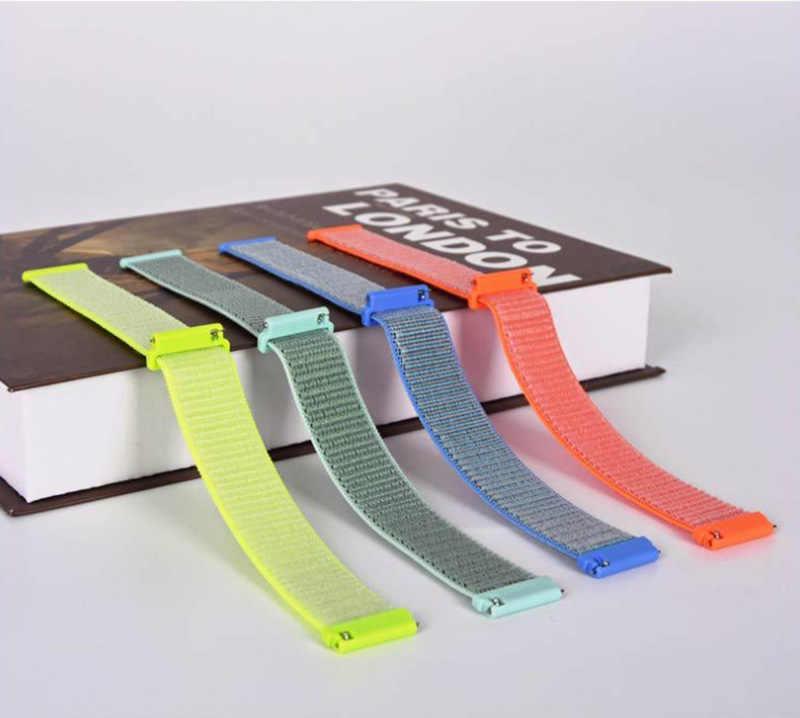 ניילון רצועת יד עבור huawei watch GT עבור huawei watch 2 קלאסי שעון להקות 22 mm עבור huawei כבוד שעון קסם חלום החלפת צמיד להקת רצועת smart watch אבזרים