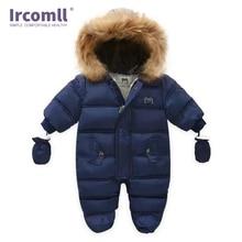 Ircomll New Born Baby Winter Clothes Toddle Jumpsuit Hooded Inside Fleece Girl Boy Autumn Overalls Children Outerwear