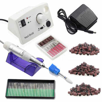 35000 RPM Electric Nail Drill Machine Nail Art Equipment Manicure Kit Ceramic Nail Drill Bit Sanding Band Accessories Nail Tool - Category 🛒 Beauty & Health
