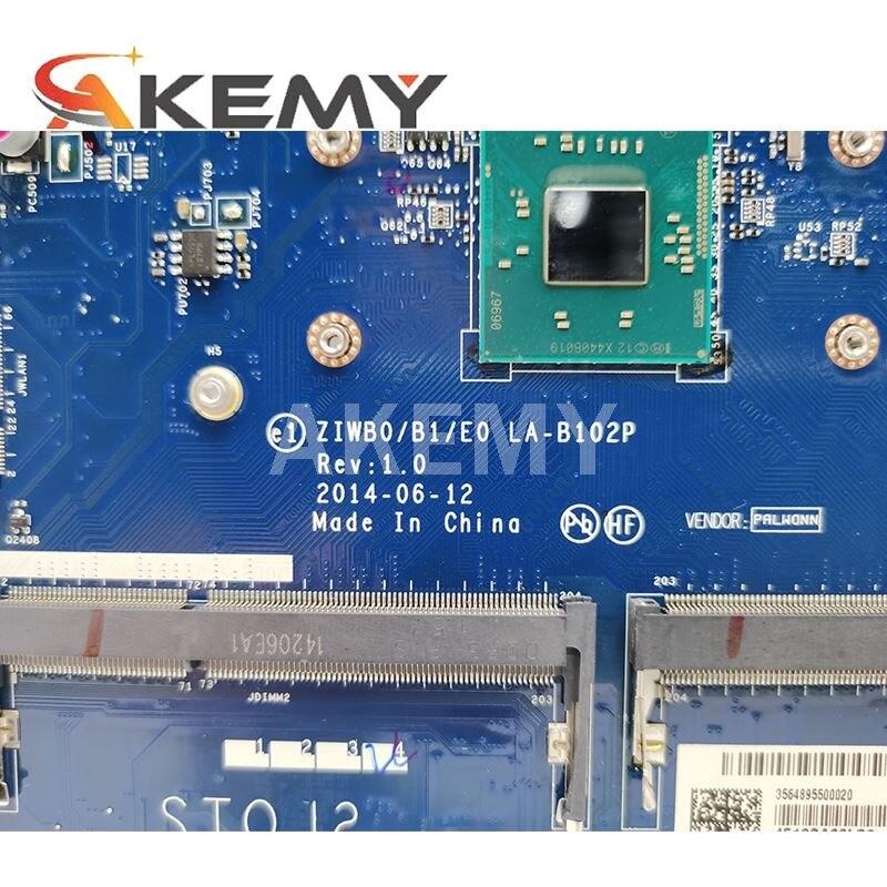 5B20G90129 Mainboard For Lenovo B50-30 Laptop pc motherboard w N3540 N3530 CPU ZIWB0/B1/E0 REV:1.0 LA-B102P Fully Tested OK 3