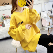 Hoodies and Sweatshirts Women Female Autumn Winter Casual Long Sleeve Print Oversize Pullovers Top