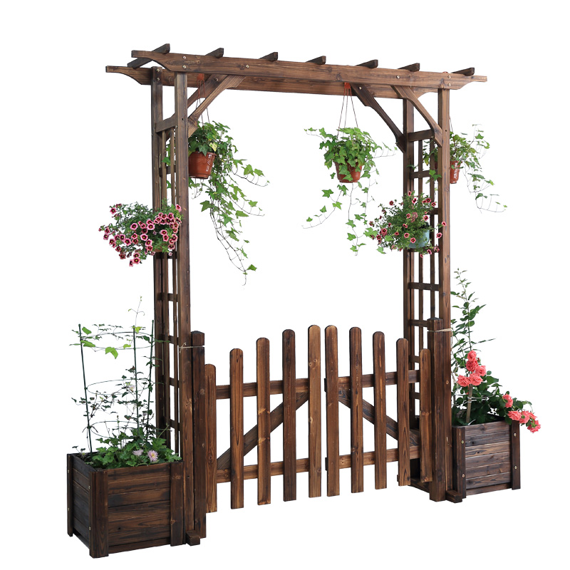 Courtyard Iron Arch Flower Rack Climbing Vine Rack Simple Balcony Grape Rack Outdoor Garden Decorative Arch Fence Door