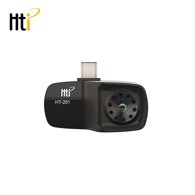 HT 201 Thermometer Multifunction Meter Handheld Detection Mobile Phone Infrared Black High Thermal Imager for Android