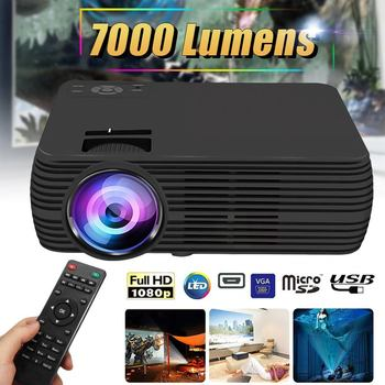 Support 1080p HD LCD Projector 7000 Lumens Multimedia Home Cinema Smart Home Theater LED Proyector HDMI VGA AV SD USB Beamer