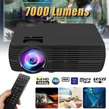 Поддержка 1080p HD LCD проектор 7000 люмен мультимедийный домашний кинотеатр Умный домашний кинотеатр светодиодный проектор HDMI VGA AV SD USB Beamer