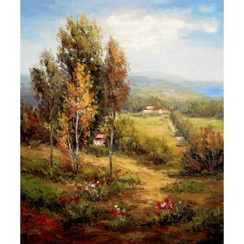 Wall art Landscapes oil painting Valle Salerno handmade natural picture for room decor large canvas image