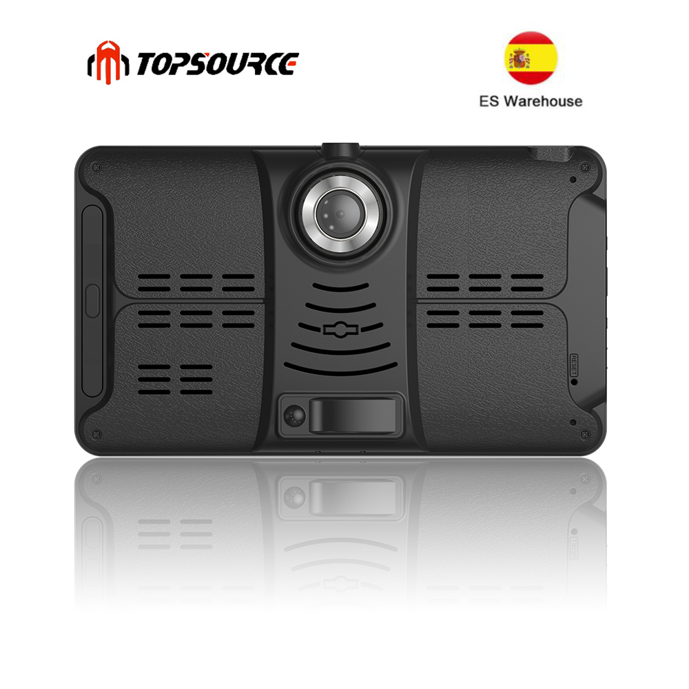 TOPSOURCE Truck GPS Navigation Dash-Camera Spain Warehouse Bluetooth Android 7inch Gps-Map title=