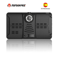 TOPSOURCE Car DVR GPS Navigation 16G 7 inch 1024*600 Android Bluetooth wifi fhd 1080p Camera Recorder Vehicle GPS record free ma