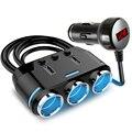 12 V-24 V розетка для автомобильного прикуривателя сплиттер светодиодный USB Зарядное устройство адаптер 3.1A 100W обнаружения для телефона MP3 DVR ак...