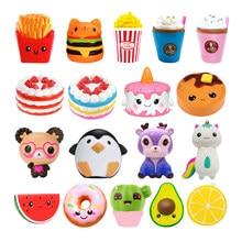 Jumbo Kawaii Popcorn Fries Panda Squishy Kuchen Deer Milch Squeeze Spielzeug Langsam Rising Creme Duft Anti-Stress-Kind Kind Baby Spielzeug