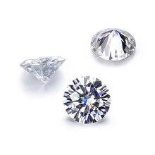 Diamond-Tester Jewelry Bare-Stone Moissanite D-Color 1-Carats Round Ultra-White