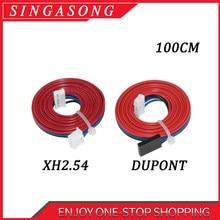 Xh2.54 cabo dupont de motor de passo, 4 pinos, peça de fio de motor de passo fêmea para fêmea, terminal preto e branco, impressoras 3d peças