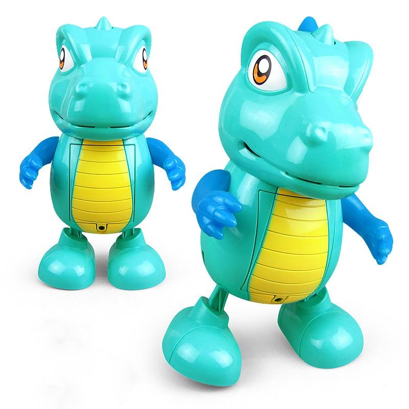 LED Light Music Dancing Dinosaur Toy Fun Dancing Electric Light Music Model Toy