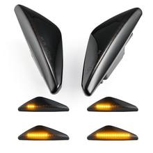 2 stücke Dynamische LED Blinker Seite Marker Licht Fender Lampe Sequentielle Anzeige Licht Für BMW X3 F25 X5 E70 x6 E71 E72 2008 2014