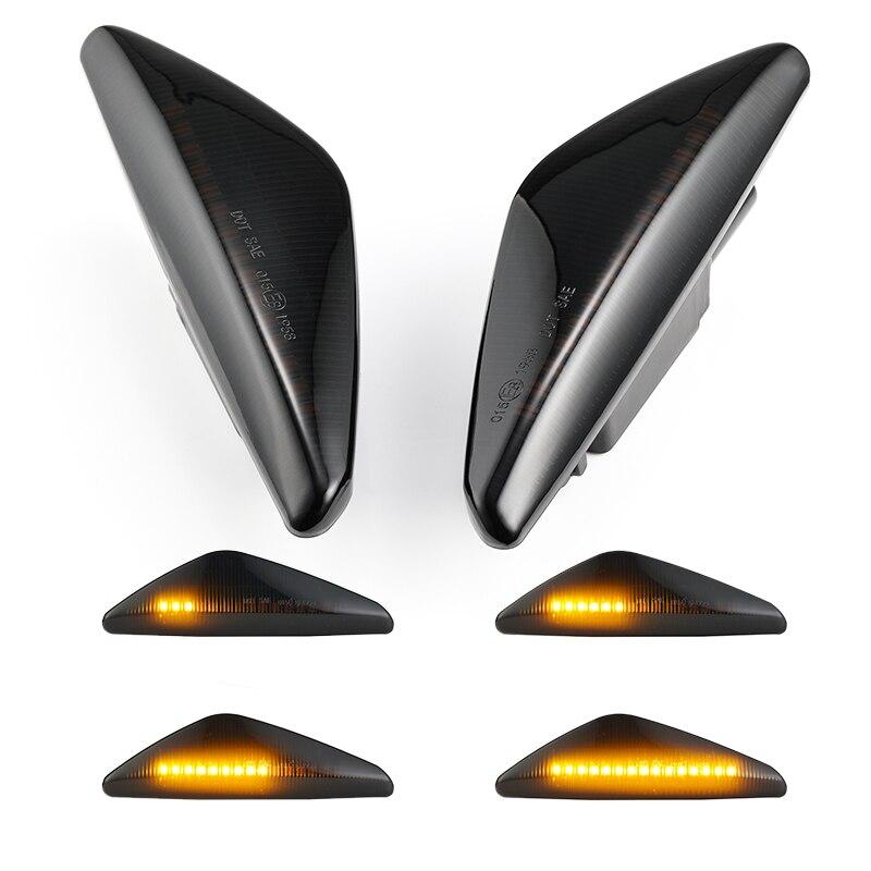 2 шт. Динамический светодиодный поворотник боковой габаритный светильник крыло лампа последовательным индикатор светильник для BMW X3 F25 X5 E70 X6 E71 E72 2008 2014 Сигнальная лампа      АлиЭкспресс