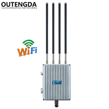 1200Mbps Outdoor AP CPE 802.11ac Dual Band 2.4G 5.8G Wireless Access Point POE WiFi Signal Booster Extender with OMNI ANTs 1