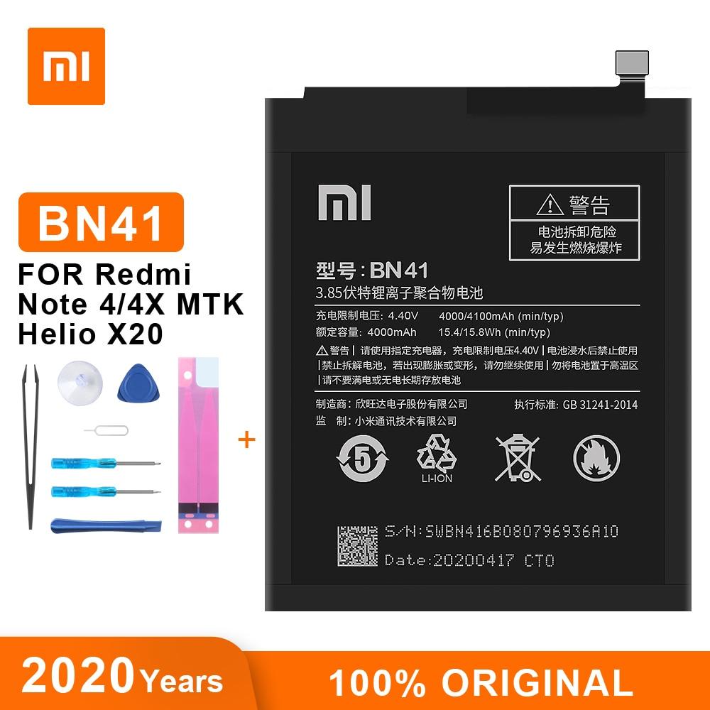 Оригинальный аккумулятор Xiaomi BN41, 4100 мАч, для Redmi Note 4, 4X