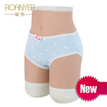 Roanyer shemale silicone penetrable fake vagina pant artificial false buttock latex underwear crossdresser DragQueen transgender(China)