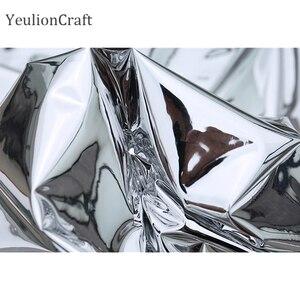 Image 5 - Chzimade 50x137cm prata reflexivo espelho pano roupas à prova dwaterproof água vestuário criativo dupla face espelho de prata tpu tecido