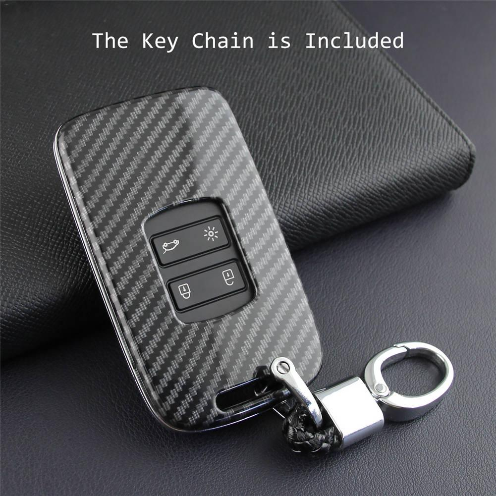 Car Key Case Fob Bag Holder ABS Hard Shell Cover Parts Fit For Renault Koleos 2017 2019 Kadjar Megane Car Key Accessories-in Key Case for Car from Automobiles & Motorcycles