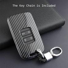 Car Key Case Fob Bag Holder ABS Hard Shell Cover Parts Fit For Renault Koleos 2017 2019 Kadjar Megane Car Key Accessories
