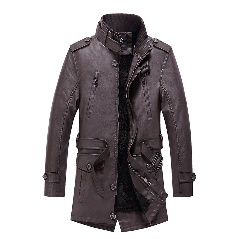 Men Casual Leather Jackets Winter Male  High Quality Windproof Faux PU Motorcycle Jacket Coat Men's Leather Jackets Coat