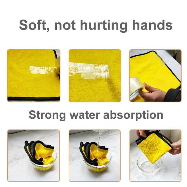 3/5/10 pcs Extra Soft Car Wash Microfiber Towel Car Cleaning Drying Cloth Car Care Cloth Detailing Car WashTowel Never Scrat 3