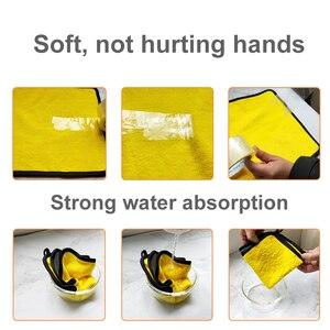 Image 3 - Lot de serviettes microfibres extra douces pour nettoyage de voiture, 3/5 ou 10 pièces, tissu de séchage pour maintenance esthétique, ne raye jamais