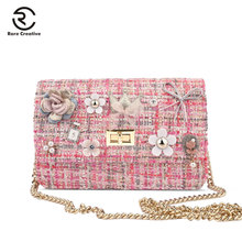 RARE CREATIVE Casual Wool Messenger Bag For Girls Luxury Women Bags Designer Chain High Quality Crossbody Bags Lovely Bag HL4012 2018 new and creative messenger bag with the shape of ice cream cute chain bag designed for lovely girls