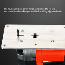 Jig Saw Flip Plate Electric Power Tool Woodworking Chainsaw Wire Saw Wood Cutting Saw Trimming Machine Flip Board Work Bench kalibr lem 830e electric saw woodworking power tools multifunction chainsaw hand saws cutting machine woodworking tool