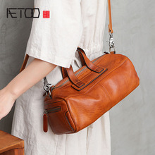AETOO New autumn wild casual leather handbag large capacity literary retro diagonal cross motorcycle bag