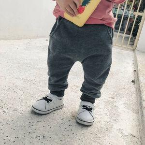 Штаны с принтом «Большая пасть чудовища» для маленьких мальчиков, штаны, брюки, одежда из хлопка, От 0 до 4 лет