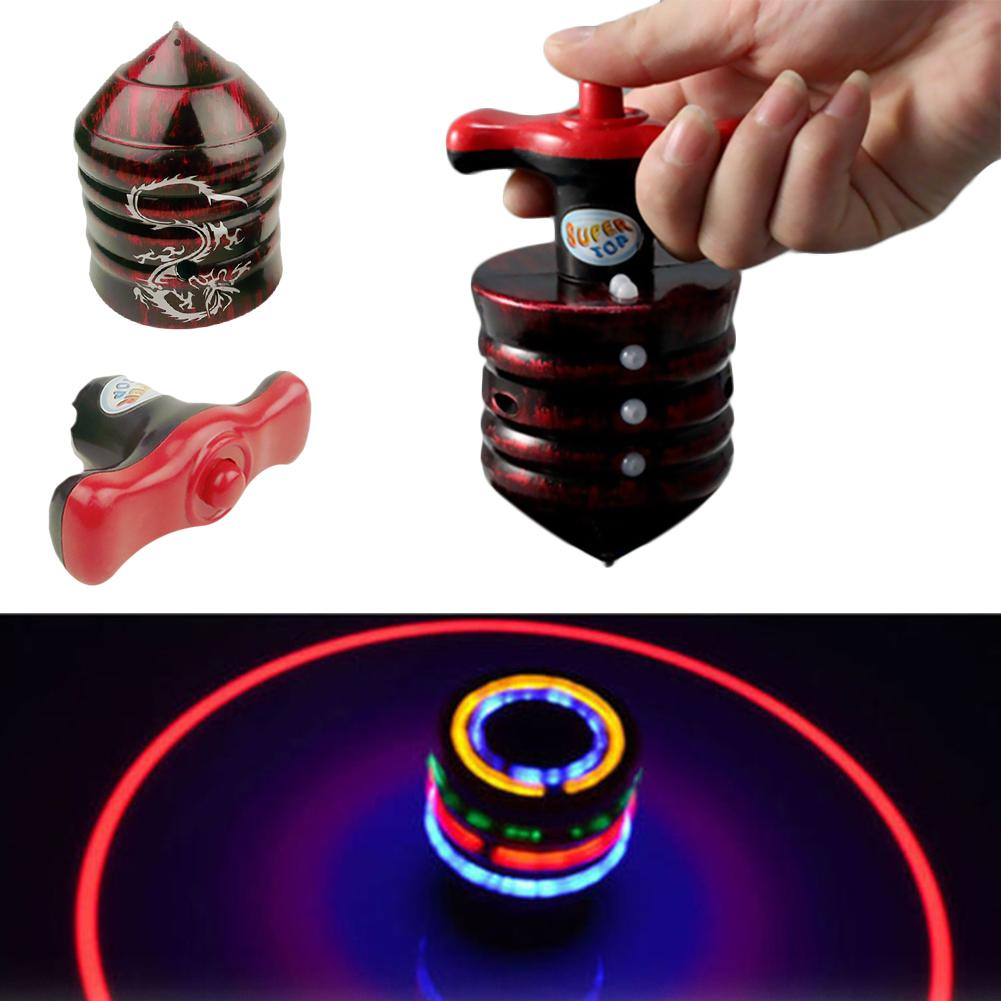 Music Gyro Peg-Top Spinning Top Brinquedo Funny Kids Toy Classic UFO Gyroscope Laser Color Flash LED Light Birthday Gift(China)