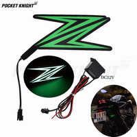 Luz fría de conducción nocturna para motocicleta, calcomanía luminosa de banda intermitente para Kawasaki Z900, Z650, Z1000, Z800, Z750, Z300, Z250, Z125