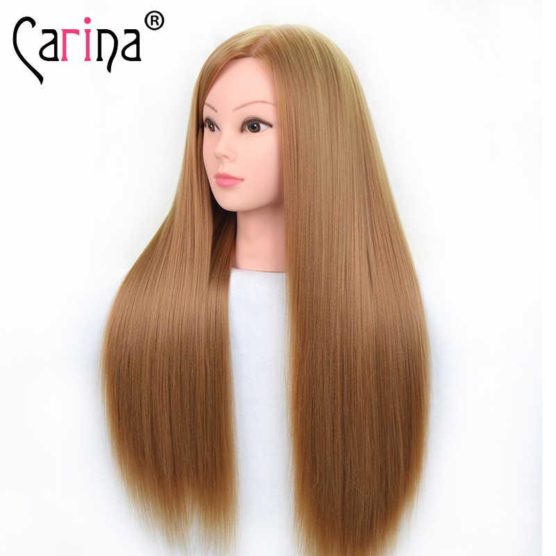 65CM Synthetische Mannequin Kopf Für Frisuren Professionelle Ausbildung Kopf Mit Lange Haar Praxis Friseur Puppen Kopf Puppe