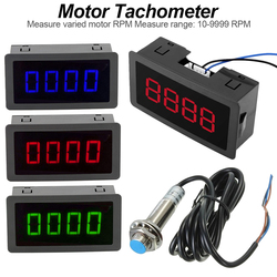 LED Tachometer Proximity Switch Sensor NPN 10-9999RPM DC 8-15V + 4 Digital Red/Blue/Green RPM Speed Meter