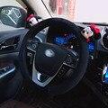 Милый мультяшный автомобильный чехол на руль  зимний плюшевый женский подарок для девочек  чехол на руль Микки  чехол на руль