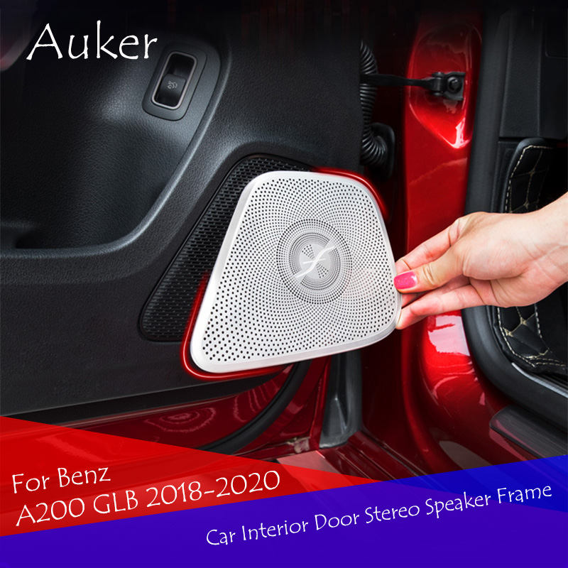 Car Interior Door Stereo Speaker Audio Ring Cover Sound Frame Decoration Trim For Mercedes Benz A Class W177 V177 A180 <font><b>A200</b></font> 2019 image