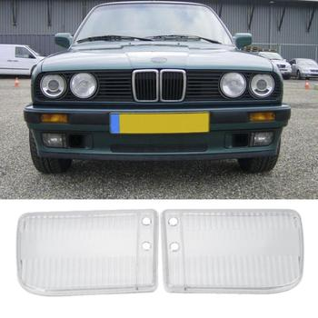 1Pair Headlight Cover Front Lamp Covers Headlight Lens For BMW E30 1984-1991 Exterior Lamp Hoods Replacement Parts image