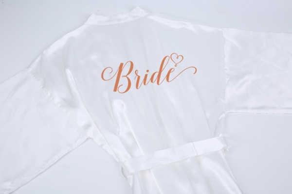 Baru Sampanye Jubah Mandi Bride Satin Sutra Jubah Wanita Pesta Pengantin Adik Tim Ibu Shower Hadiah Bridesmaid Pernikahan Pendek Jubah