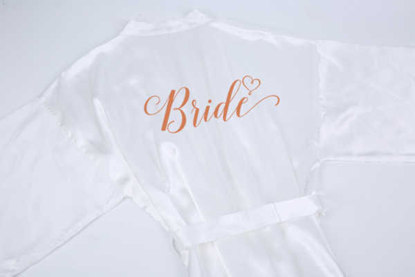 Nieuwe Champagne Badjas Bruid Satijn-Zijden Gewaad Vrouwen Bridal Party Zus Team Moeder Douche Gift Bruidsmeisje Bruiloft Korte Gewaden