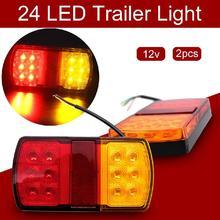 цена на 2Pcs 12V LED Side Marker Lights Car External Lights Warning Tail Light Auto Trailer Truck Lorry Lamps Double-color Arc Lamp