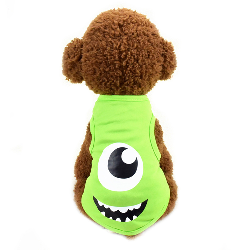 Pet Cat Clothes for Cats Summer Vest T Shirt Dog Cat Clothes Costume for Small Dogs Cartoon Vest for Puppy 35 (10)