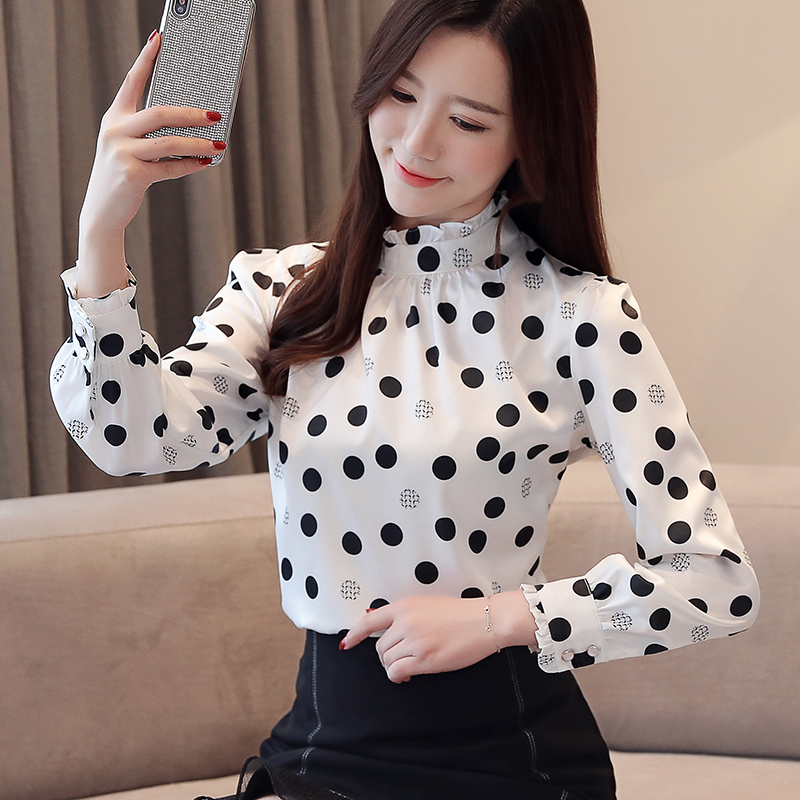Blusas donne top e camicette maglie a manica lunga blusa