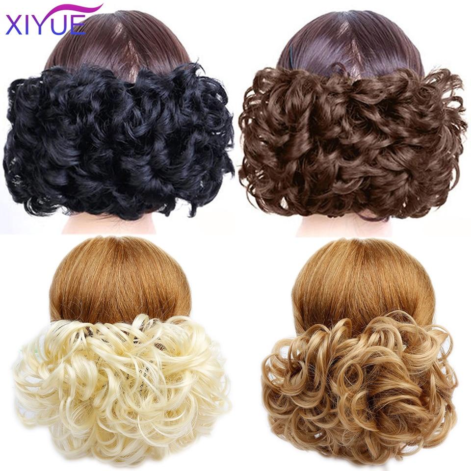 XIYUE женский кудрявый шиньон с эластичной резинкой и зажимом в синтетических искусственных волосах