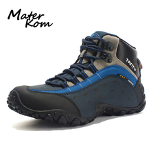 2019 New Outdoor Hiking Shoes Men Leather Trekking Shoes