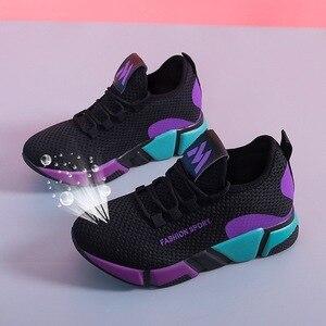 Image 4 - 2020 새로운 여성 신발 플랫 패션 캐주얼 숙 녀 신발 여자 레이스 업 통풍 여성 플랫폼 스 니 커 즈 Zapatillas Mujer 8 2